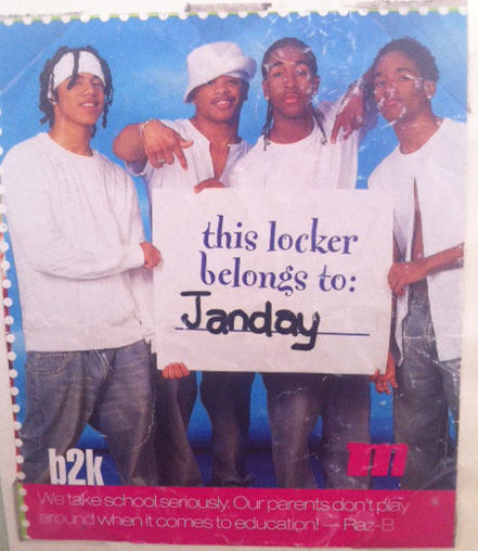 This picture was in my 7th grade diary. Did I write diary entries about B2K? You bet I did!